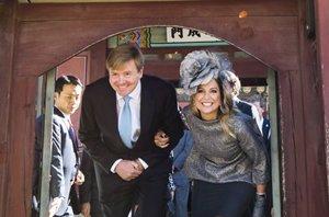 Foto: Máxima de Holanda, muy simpática y espontánea en su viaje por Oriente (CORDON PRESS)