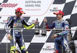 """Foto: Rossi: """"Si queremos ponerle las cosas difíciles a Márquez debemos estar más cerca desde el principio"""" (JASON REED / REUTERS)"""