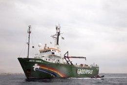 Foto: Greenpeace paga la fianza de 50.000 euros para abandonar Lanzarote (GREENPEACE)