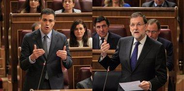"""Foto: AV. - Rajoy recrimina a Sánchez que quiera """"cargarse"""" en artículo 135 y dice que el PSOE """"estaba mejor con Rubalcaba"""" (EUROPA PRESS)"""