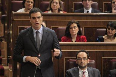 """Foto: Sánchez creu que el PSOE """"fa bé esmenant errors"""" (EUROPA PRESS)"""