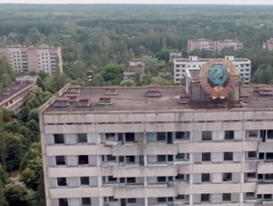 Pripyat a vista de Drone