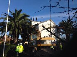 Foto: Incidentes nun desaloxo na Coruña (EUROPA PRESS)