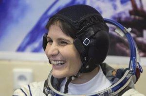 Foto: Samantha Cristoforetti, la italiana que llevó su cafetera al espacio (REUTERS)