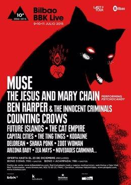 Foto: The Jesus and Mary Chain, Ben Harper y Counting Crows, entre las nuevas incorporaciones al Bilbao BBK Live (BBK LIVE)