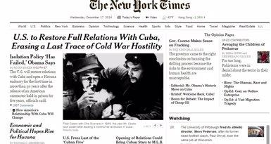 Foto: 'NYT': Obama tanca un dels capítols més equivocats de la política exterior dels EUA (NOTIMÉRICA)
