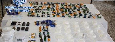 Foto: Desarticulada una red que llevaba desde España a Japón metanfetamina (POLICÍA NACIONAL)