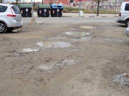 Foto: El PP urge el arreglo del parking de tierra del Parque del Agua (PP)