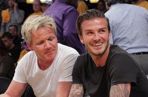 Foto: El chef Gordon Ramsay acoge a los Beckham en su casa (GETTY)