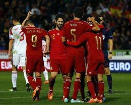 Foto: España jugará en Sevilla contra Ucrania el 27 de marzo (REUTERS)