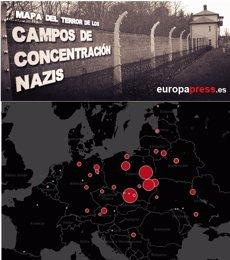 Foto: Mapa de l'Holocaust: El terror nazi a Auschwitz, Birkenau, Treblinka i la resta de camps de concentració (EUROPA PRESS)
