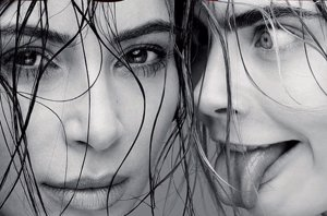 Foto: La mirada de 'loca' de Cara Delevingne a Kim Kardashian (INSTAGRAM/LOVE MAGAZINE )