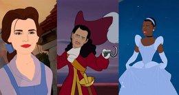 Foto: Emma Watson y otros 14 actores como personajes Disney (BUZZFEED)