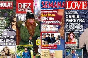 Foto: El amor de Lara Álvarez y Fernando Alonso, Carla Pereyra enamorada de Simeone y la escapada de los Reyes (REVISTAS )