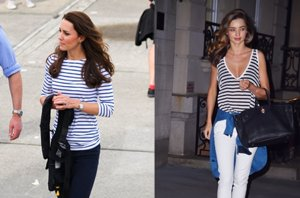 Foto: Kate Middleton o Miranda Kerr ponen de moda las camisetas de raya marinera (CORDON PRESS)
