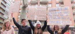 Foto: Colectivo de Estudiantes cifra el seguimiento de la huelga en el 80%, que Educación reduce al 20% (EUROPA PRESS)