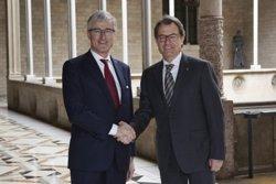 Foto: El president de Flandes valora davant Mas la determinació catalana per debatre el seu futur (GENERALITAT DE CATALUNYA)