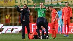 Foto: Futbol.- Busquets es perdrà com a mínim el partit del Rayo en confirmar-se la seva lesió al turmell (MIGUEL RUIZ-FCB)