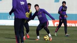 Foto: Futbol.- El Barça comença a preparar la visita del Rayo sense Busquets (MIGUEL RUIZ-FCB)