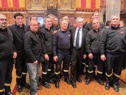 Foto: Trias promet als Bombers més recursos malgrat les restriccions econòmiques (EUROPA PRESS)
