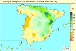 Foto: Ha llovido lo normal entre octubre y marzo en el conjunto de España (AEMET)