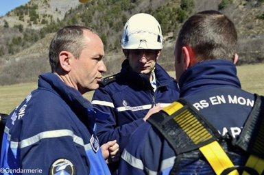 """Foto: Els equips de rescat no han localitzat """"ni un cos intacte"""" als Alps (GENDARMERIE NATIONALE)"""