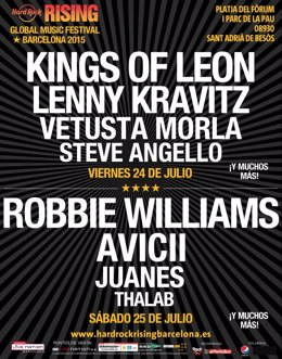 Foto: Robbie Williams se suma al cartel del festival Hard Rock Rising (HARD ROCK RISING)
