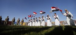Foto: Camions militars s'acosten a la frontera del Iemen des de L'Aràbia Saudita (KHALED ABDULLAH ALI AL MAHDI)