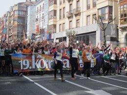 Foto: 19.Korrika Bilbora heldu da (EUROPA PRESS)