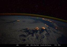 Foto: Una astronauta italiana fotografía Canarias desde la Estación Espacial (SAMANTHA CRISTOFORETTI)