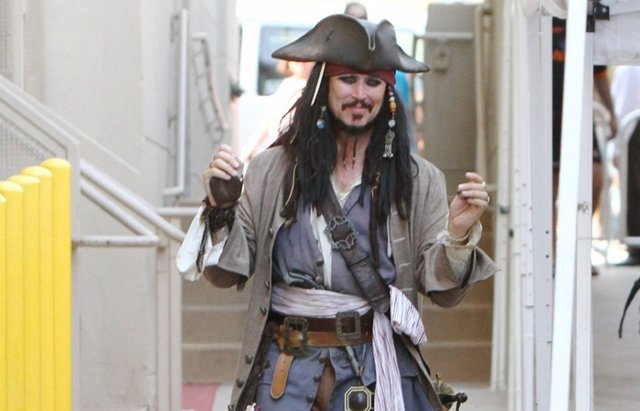 Foto: Johnny Depp paraliza la grabación de Piratas del Caribe hasta abril (CORDON PRESS)
