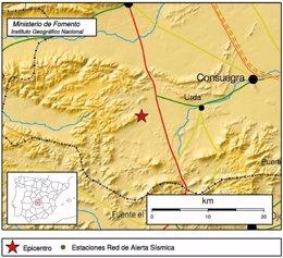 Foto: Un terremoto con epicentro en Urda se siente en Toledo, Ciudad Real y Jaén (EUROPA PRESS/IGN)