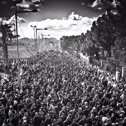 Foto: La Tamborada de Hellín se queda a las puertas del Guinness (EUROPA PRESS/DAVID FLORES)