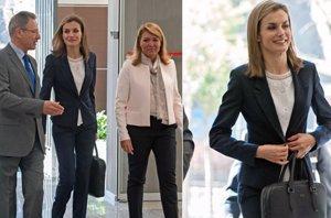 Foto: Letizia, fiel a su look 'working girl' y a Hugo Boss (JOSÉ OLIVA)