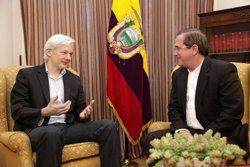 Foto: Wikileaks.- Assange accedeix a ser interrogat a Londres per les autoritats sueques (CANCILLERÍA ECUADOR/EP)