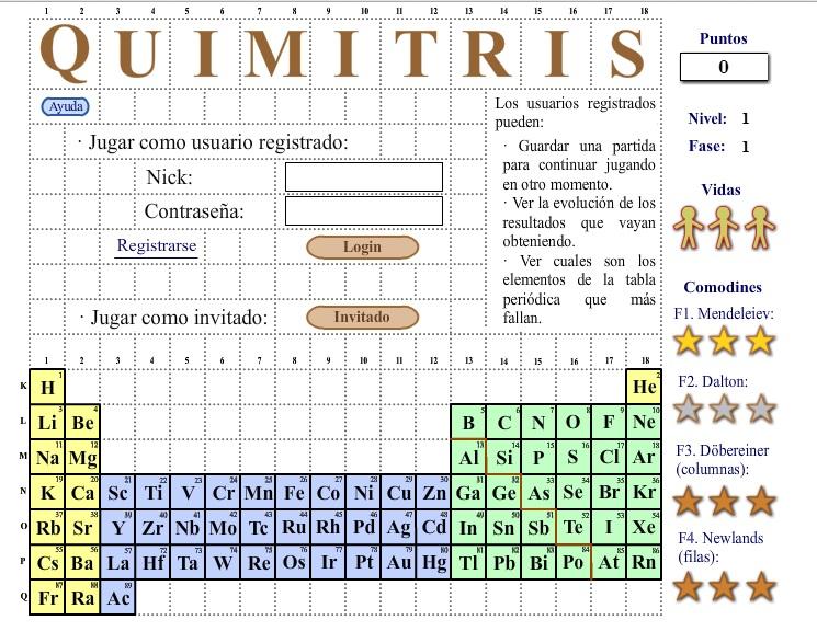 La tabla periodica quimitris es un juego en el que mediante el tetris aprenders la tabla peridica de los elementos de forma entretenida el juego es sencillo las fichas urtaz Images