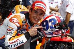 Foto: Motociclisme.- Márquez i l'acció amb Rossi: