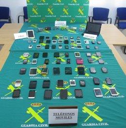 Foto: Detenido con más de 70 artículos electrónicos robados en Málaga (EUROPA PRESS/GUARDIA CIVIL)