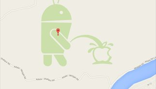 Android se mea en Apple, literalmente, en Google Maps
