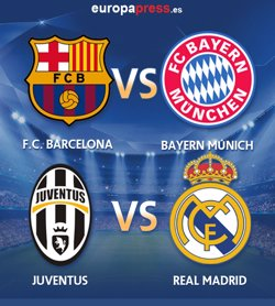 Foto: AMP.- Futbol/Lliga Campions.- Barcelona-Bayern Munich i Juventus-Reial Madrid, duels a semifinals (EUROPA PRESS)