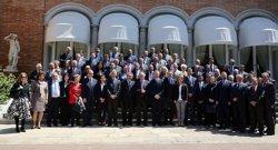 Foto: Trias rep els membres del cos consular acreditats a la ciutat (AYUNTAMIENTO DE BARCELONA)