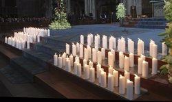 Foto: Funeral a Barcelona per les víctimes de l'avió (POOL NEW / REUTERS)