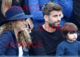 Foto: Shakira, Gerard Piqué y Milan se lo pasan pipa en el tenis (EUROPA PRESS/SANTI)