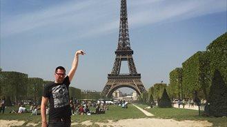 Sid Frisjes en la Torre Eiffel