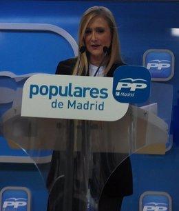 """Foto: Cifuentes se presenta como alguien que dialogará y llegará a acuerdos, que es el """"exponente del espíritu liberal"""" (PP)"""