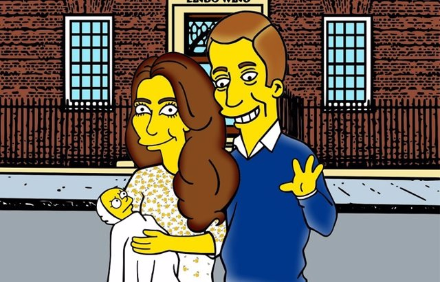 Foto: Kate Middleton, William y su hija a los Simpson  por Palombo (ALEXANDRO PALOMBO)