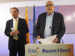 Foto: 24M.- Mas, Espadaler i Trias obriran i tancaran a Barcelona la campanya Amb tu fem camí (EUROPA PRESS)