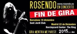 Foto: Rosendo acabarà la seva actual gira el desembre a Barcelona i Madrid (ROSENDO)