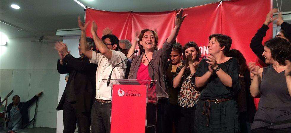 Foto: Ada Colau guanya amb 11 regidors i C's és tercera, amb el 99% escrutat (EUROPA PRESS)
