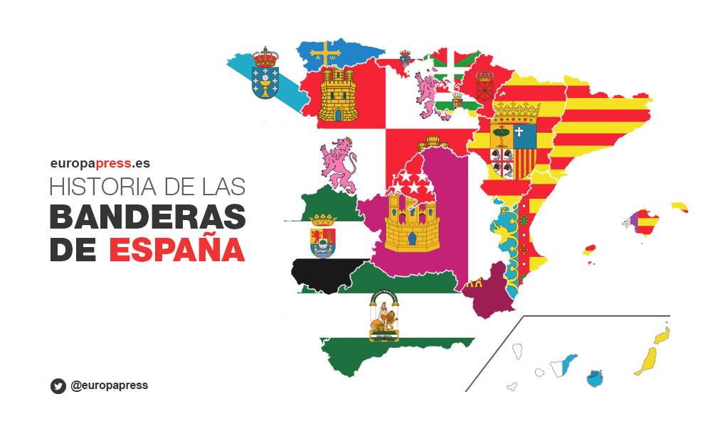 INFOGRAFÍA BANDERAS DE ESPAÑA